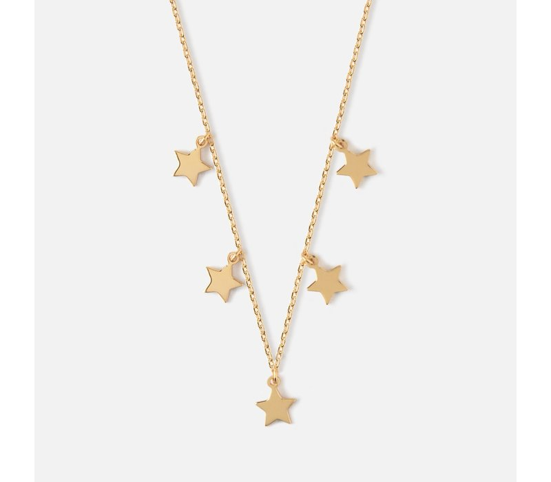 Orelia Halsketting Star Charm Multi Drop