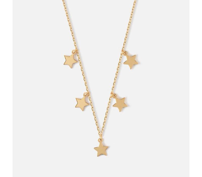 Orelia Star Charm Multi Drop Short