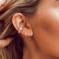 Orelia Lightning & Star Ear Party Set of 3 Earrings