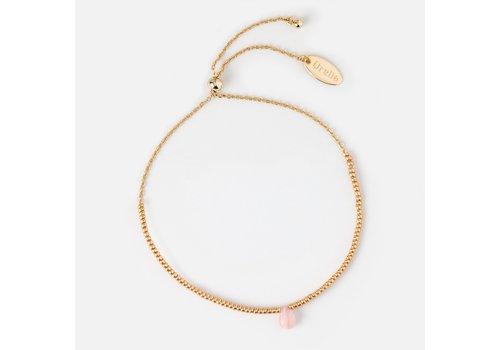 Orelia Orelia Love Healing Gem Bracelet Rose Quartz