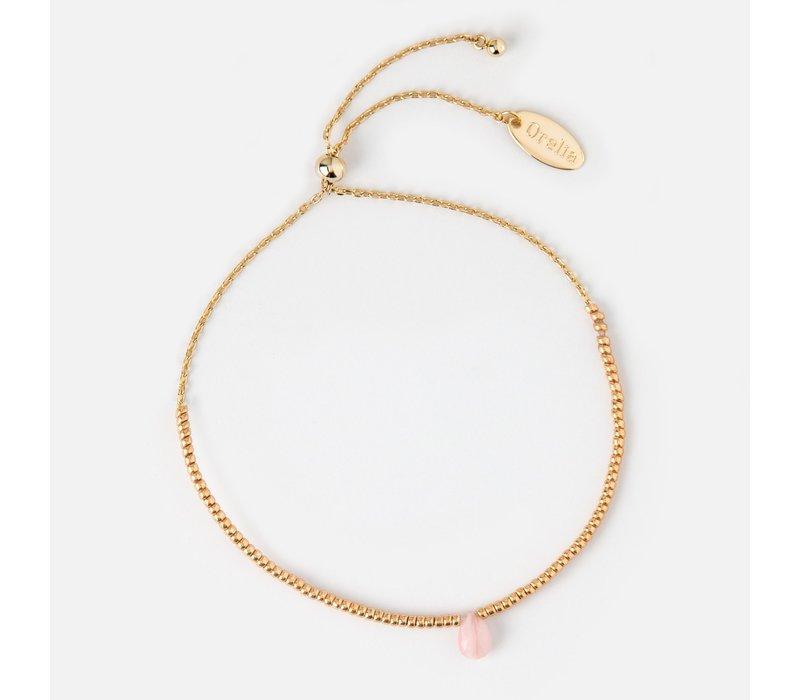 Orelia Love Healing Gem Bracelet Rose Quartz