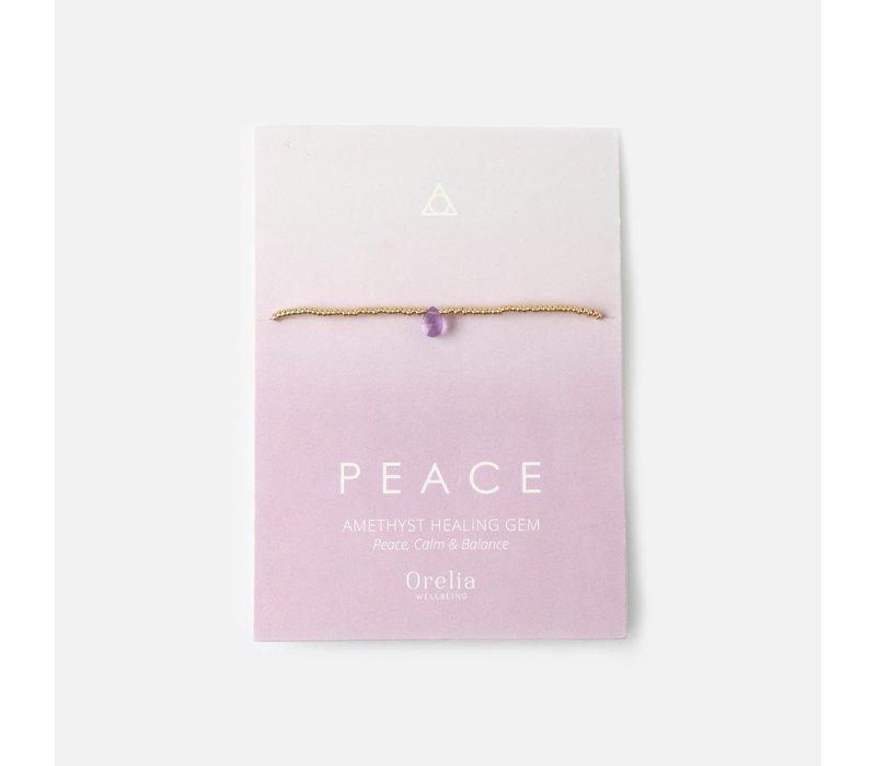 Orelia Helende Armband Peace met Amethyst