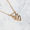 KUKU Kuku Halsketting Triangle Verguld