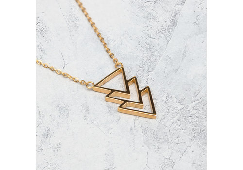 KUKU Kuku Necklace Triangle Gold