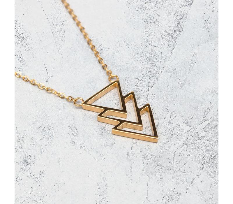 Kuku Halsketting Triangle Verguld