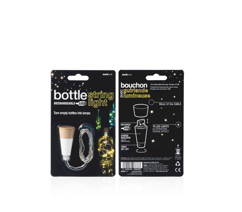 Suck UK Multicolor Bottle String Light Rechargeable