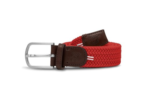 La Boucle La Boucle Original Belt Brussels Red 105 cm
