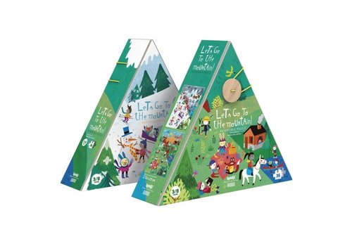 Londji Londji Omkeerbare Puzzel Let's Go to the Mountain 36 st
