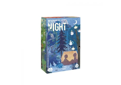 Londji Londji Omkeerbare Puzzel Night & Day in the Forest 54 st