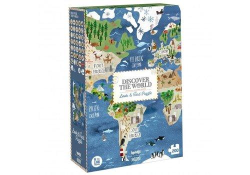 Londji Londji Observatiepuzzel Discover the World 200 st