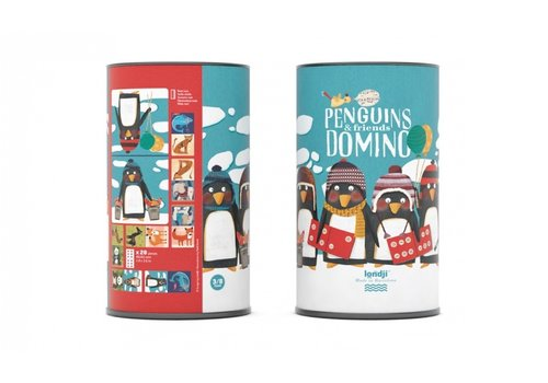 Londji Londji Domino Game Penguins & Friends
