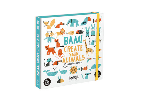 Londji Londji BAM! Create Your Animals with Stamps