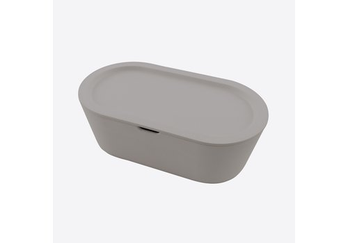 Point-Virgule Point-Virgule Bread Box on Bamboo Fiber Cement Grey 36 cm