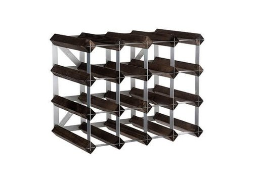 Traditional Wine Rack Co. Traditional Wine Rack Co. Wine Rack for 16 Bottles Burnt Oak