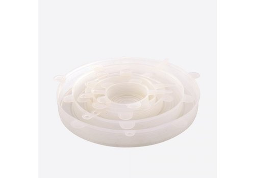Dotz Dotz Set of 6 Silicone Fresh Food Lids Transparent