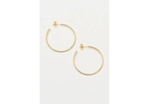 Estella Bartlett Estella Bartlett Large Plain Hoop Earrings