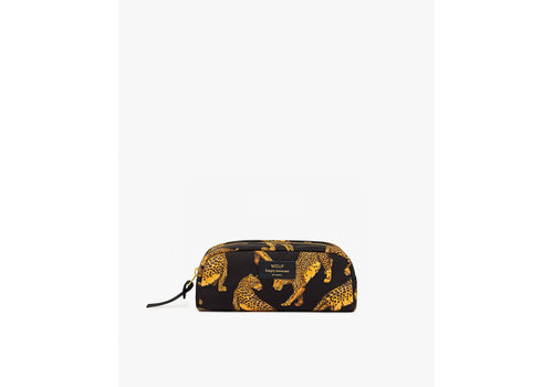 Wouf WOUF Black Leopard Small Make Up Bag