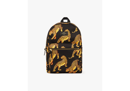 Wouf WOUF Black Leopard Backpack
