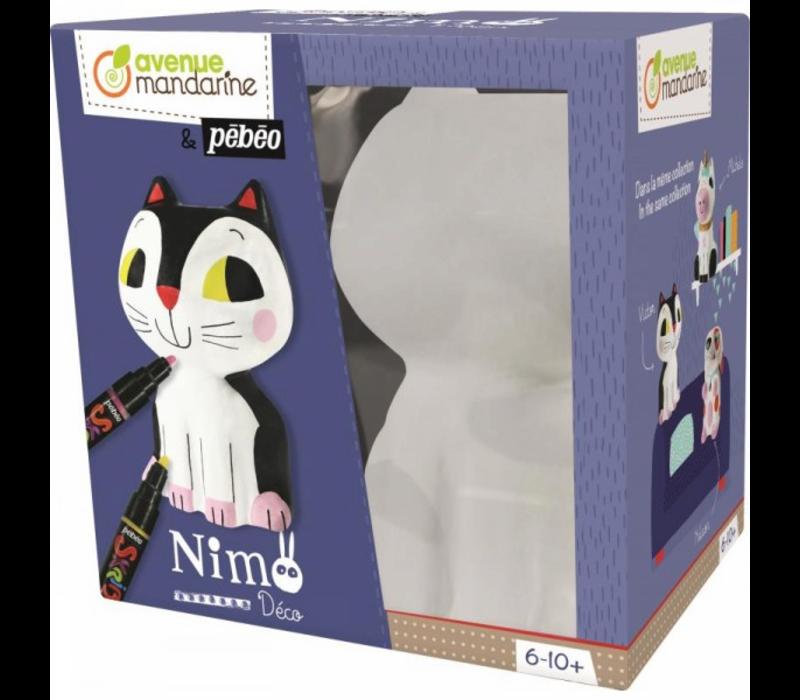 Avenue Mandarine Nimo 3D Colouring Set Victor the Cat