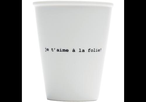 Helen B Helen B Porcelain Cup Je t'aime à la Folie