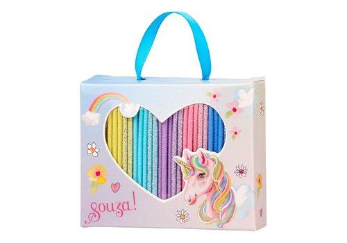 Souza! Souza! Giftbox Eleny Hair Elastics Unicorn 25 pcs