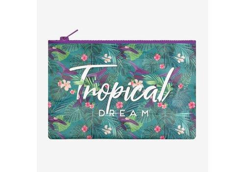 Legami Legami Zipper Pouch Tropical Dream