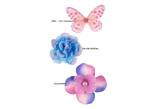 Souza! Souza! Haarklemmetjes Cleo Fuchsia/Blauw 3 st