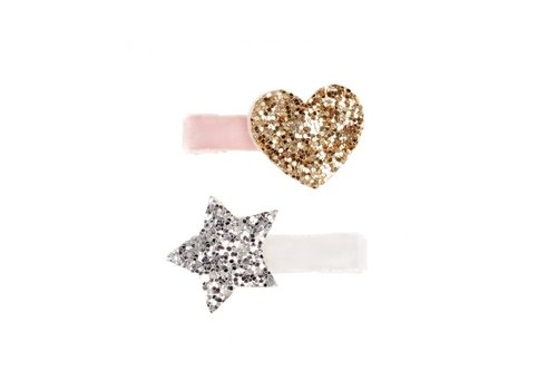 Souza! Souza! Hair Clips Indres Silver/Gold/Pink 2 pcs