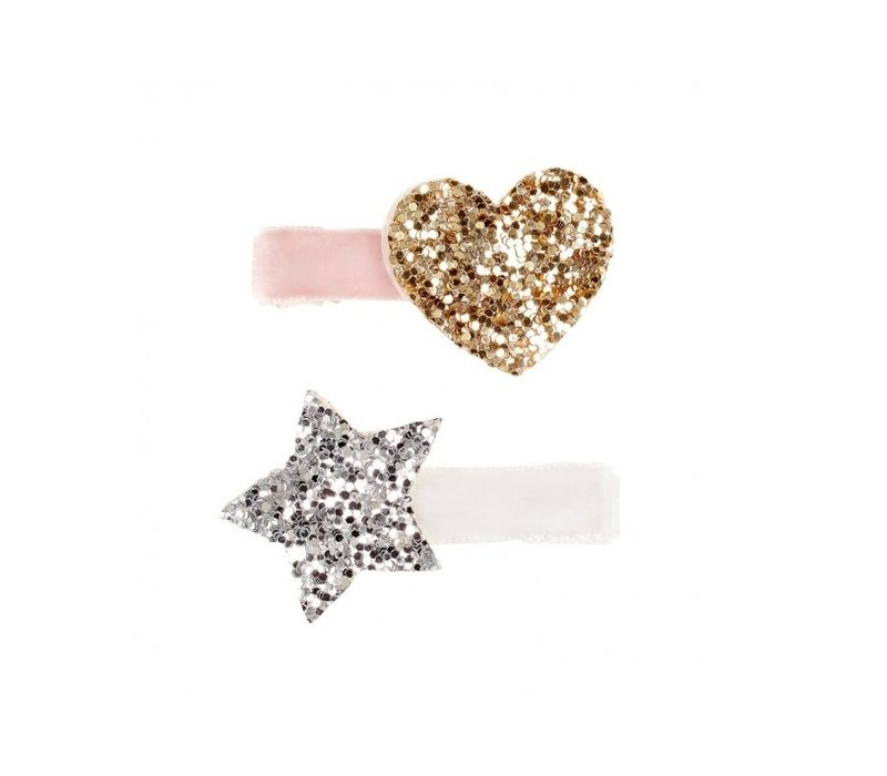 Souza! Hair Clips Indres Silver/Gold/Pink 2 pcs