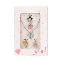 Souza! Giftbox Metal Necklace with 5 Charms, Silver