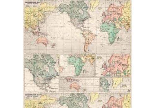 Legami Legami Geschenkpapier - Landkaart