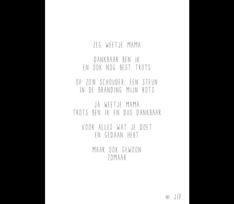 Gewoon JIP Wenskaart 'Zeg weetje mama'