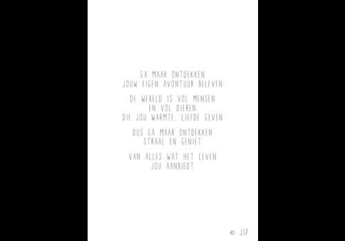 Gewoon JIP Gewoon JIP Wenskaart 'Ga maar ontdekken'