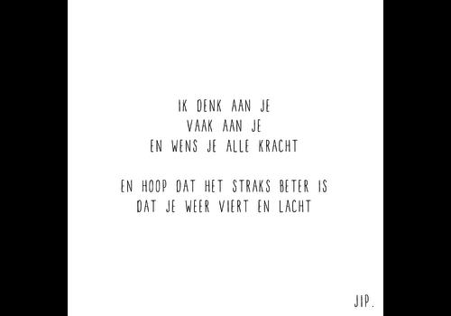 Gewoon JIP Gewoon JIP Wenskaart 'Ik denk aan je'