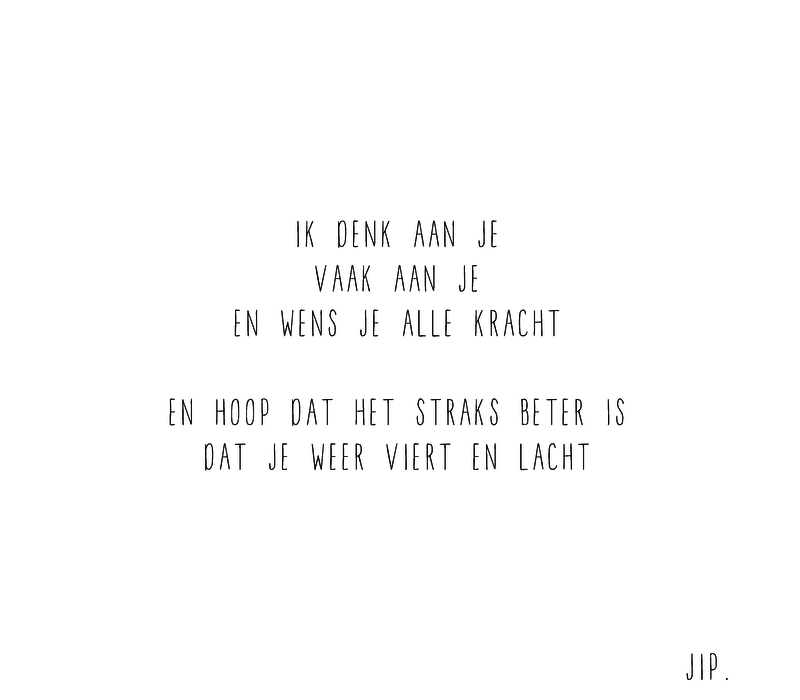 Gewoon JIP Wenskaart 'Ik denk aan je'