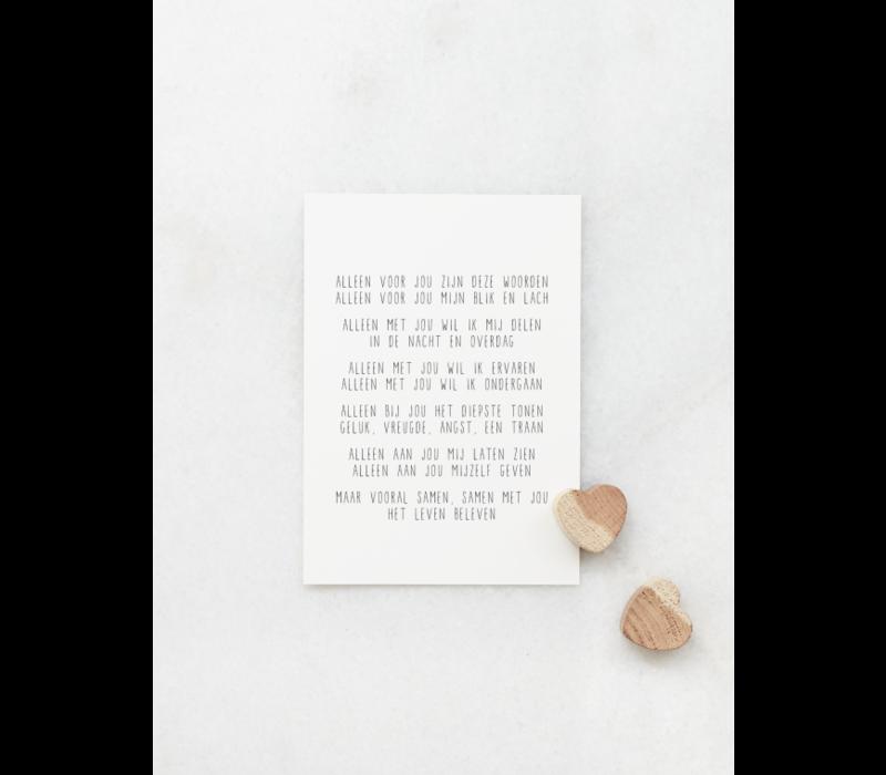 Gewoon JIP Wenskaart 'Alleen voor jou zijn deze woorden'