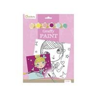Avenue Mandarine Pre-Printed Board to Paint Princess + Paint