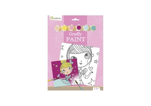 Avenue Mandarine Avenue Mandarine Pre-Printed Board to Paint Princess + Paint