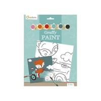 Avenue Mandarine Pre-Printed Board to Paint Driver Fox + Paint