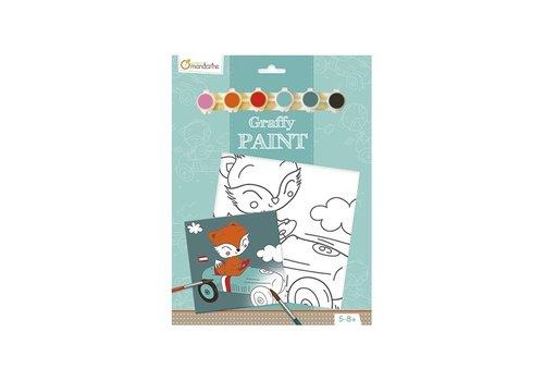 Avenue Mandarine Avenue Mandarine Canvas om te Beschilderen Rijdende Vos + Verf