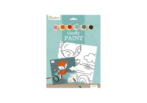 Avenue Mandarine Avenue Mandarine Pre-Printed Board to Paint Driver Fox + Paint