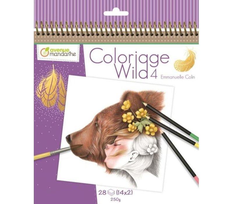 Avenue Mandarine Coloriage Wild 4 Emmanuelle Colin