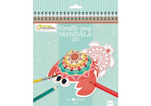 Avenue Mandarine Avenue Mandarine Graffy Pop Mandala 3D