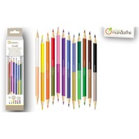 Avenue Mandarine Double-Ended Coloured Pencils 12 pcs