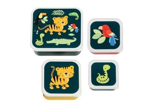 A Little Lovely Company A Little Lovely Company Lunch & Snack Box Set Jungle Tiger
