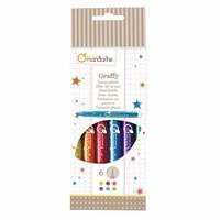 Avenue Mandarine Glitter Viltstiften 6 st
