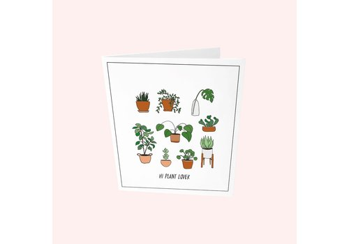 The Gift Label The Gift Label Greeting Card - Hi Plant Lover