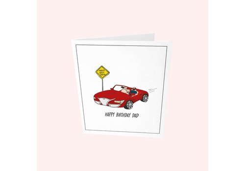 The Gift Label The Gift Label Greeting Card Happy Birthday Dad