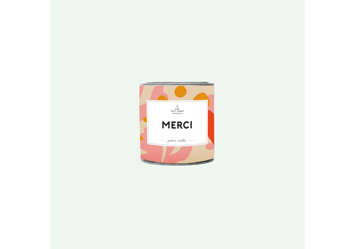 The Gift Label The Gift Label Scented Candle Tin Merci Jasmine Vanilla 90 gr