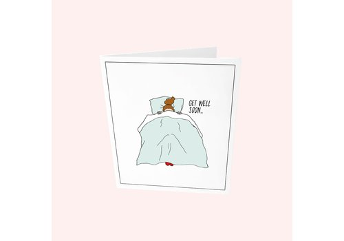 The Gift Label The Gift Label Greeting Card Get Well Soon